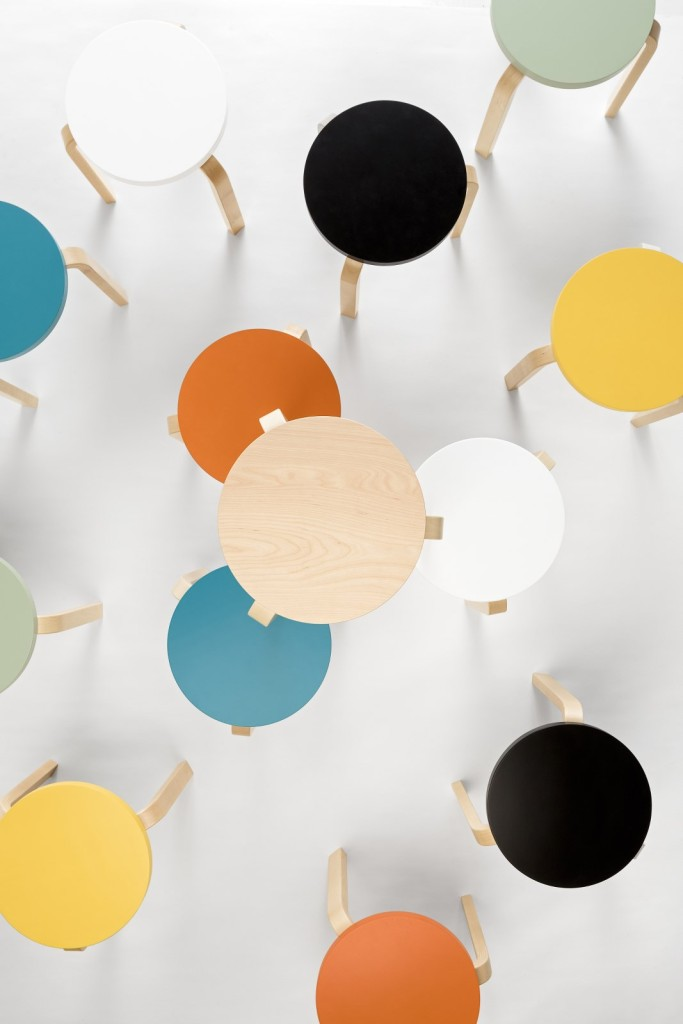 Scandinavian design Artek stool 60 collection